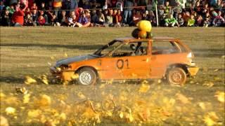 Smoky Lake pumpkin drop 2013 (Pumpkin vs Honda)