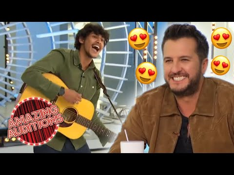 Luke Bryan FALLS IN LOVE With This INCREDIBLE Raspy Vocalist's Voice | Amazing Auditions