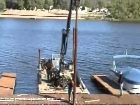 KANN Commercial Work Barge Series - Crane Barge Pile Driver.wmv