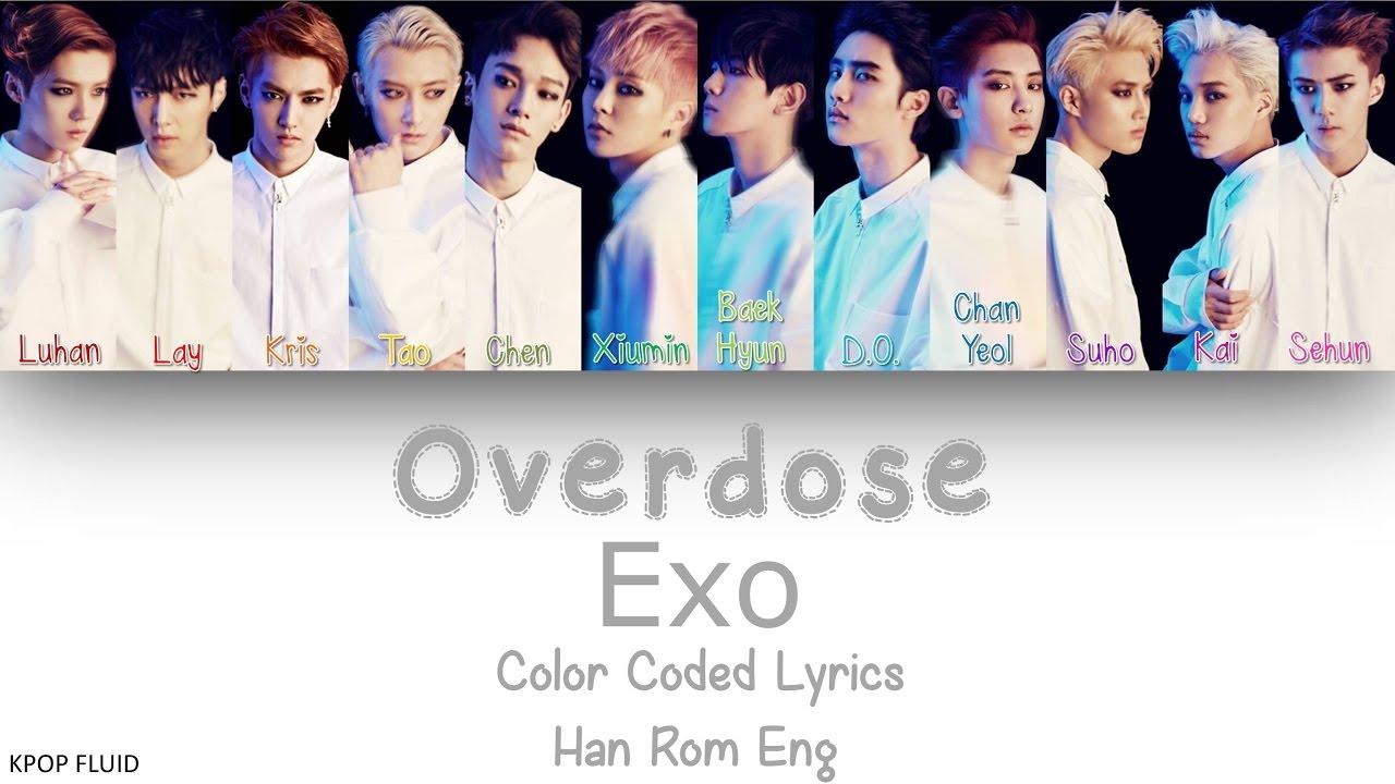 EXO - Overdose Color Coded Lyrics Han|Rom|Eng - YouTube