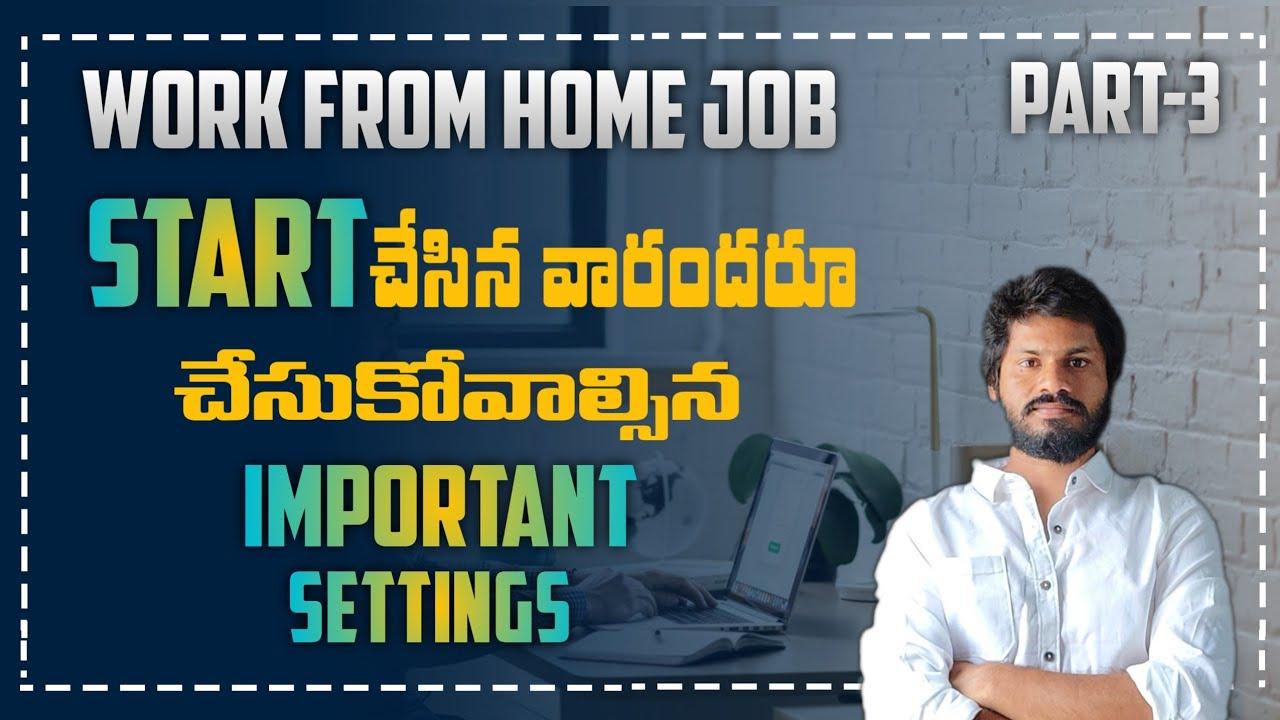 Work from home job training   Blogger important settings for everyone Data entry writing new jobs