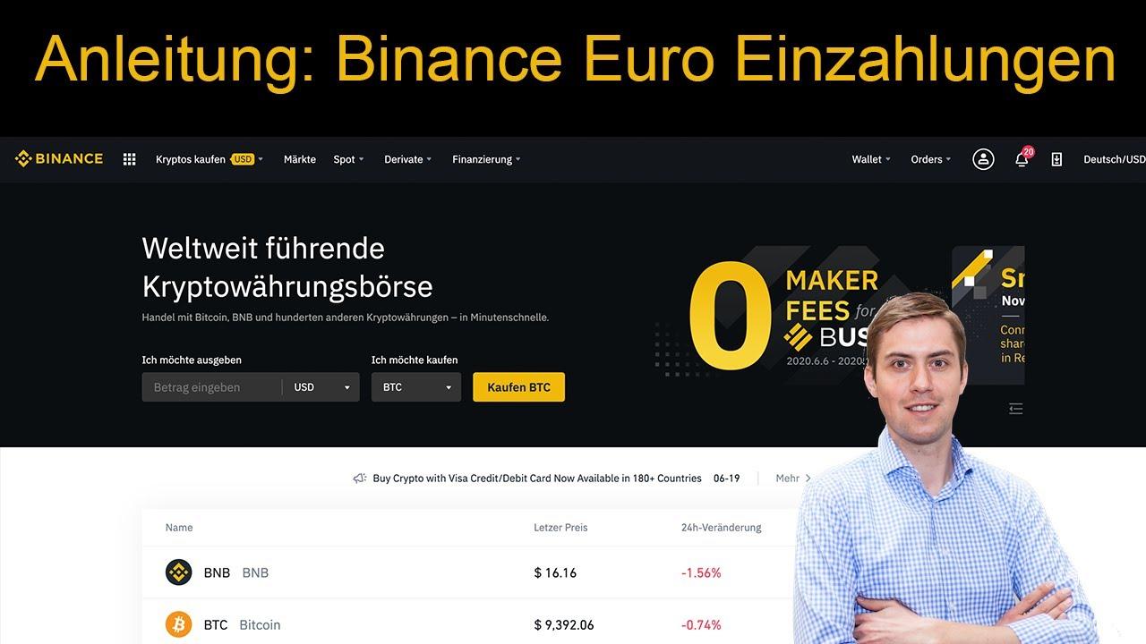Binance Einzahlen