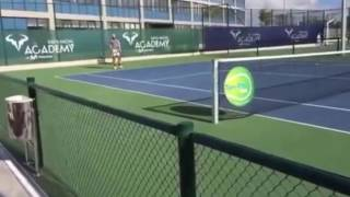 Rafael Nadal Practices in Mallorca