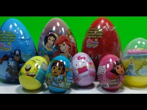 Easter Surprise Eggs Disney Princess,Marvel Avengers,Dora ...
