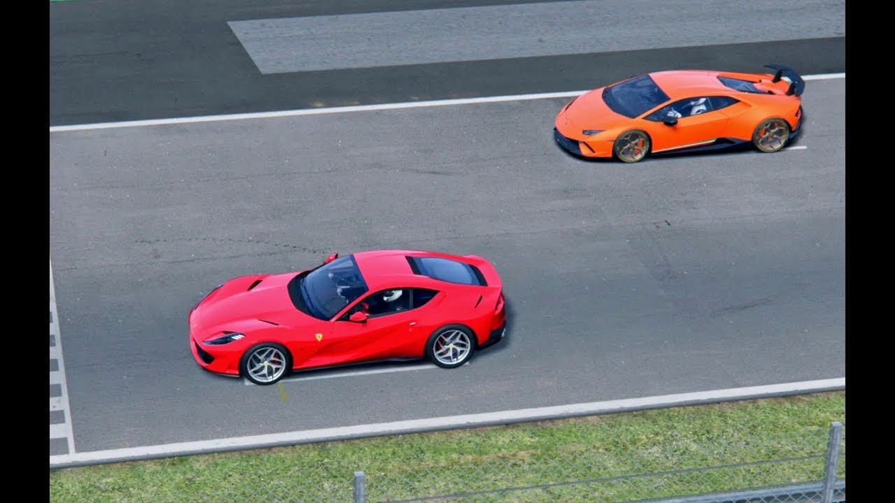 Ferrari 812 Superfast vs Lamborghini Huracan Performante ...