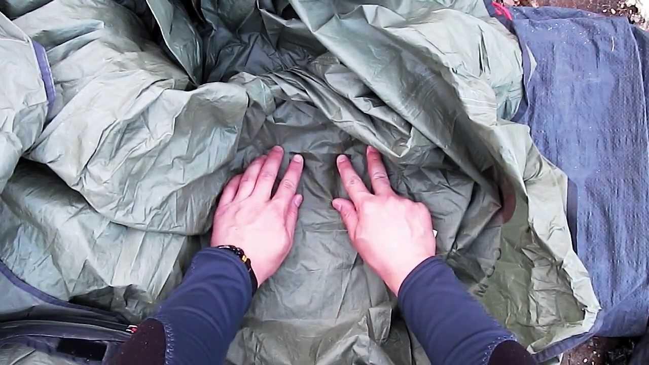 Ремонт палатки.