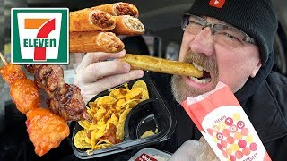 MUKBANG 먹방 | 7-ELEVEN EATING SHOW - Taquitos, Kebabs & Nachos | How I met my wife