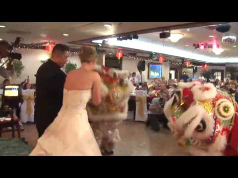 Chinese Lion Dance, Very Professional at a Wedding
