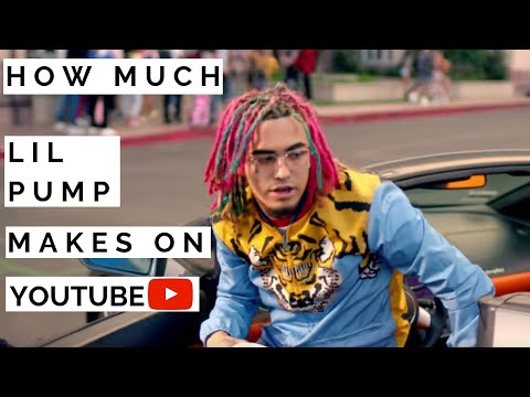 How much Lil Pump makes on Youtube