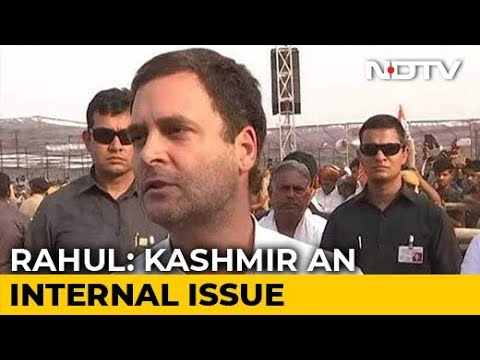 'Violence In Kashmir Instigated, Supported By Pakistan': Rahul Gandhi