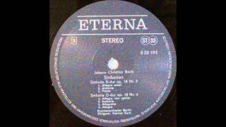 Johann Christian Bach, SINFONIE B  dur op 18 Nr 2 AND op 18 Nr 6, Helmut Koch conductor