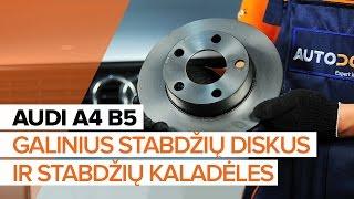 Kaip pakeisti galiniai stabdžių diskai ir galinių stabdžių kaladėlės AUDI A4 B5 [PAMOKA]