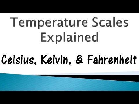 Temperature Scales: Kelvin, Celsius, & Fahrenheit @GettinJunkDone