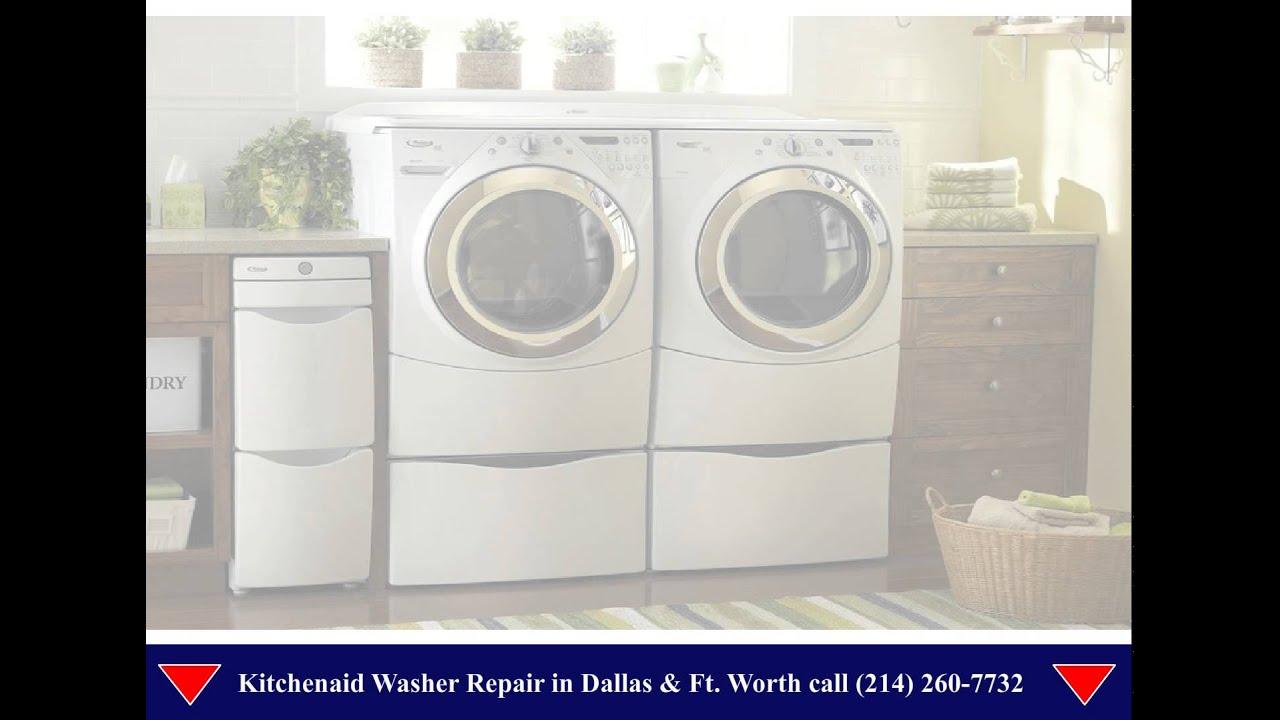 Kitchen Aid Washer Cart White Kitchenaid Repair Dallas Youtube