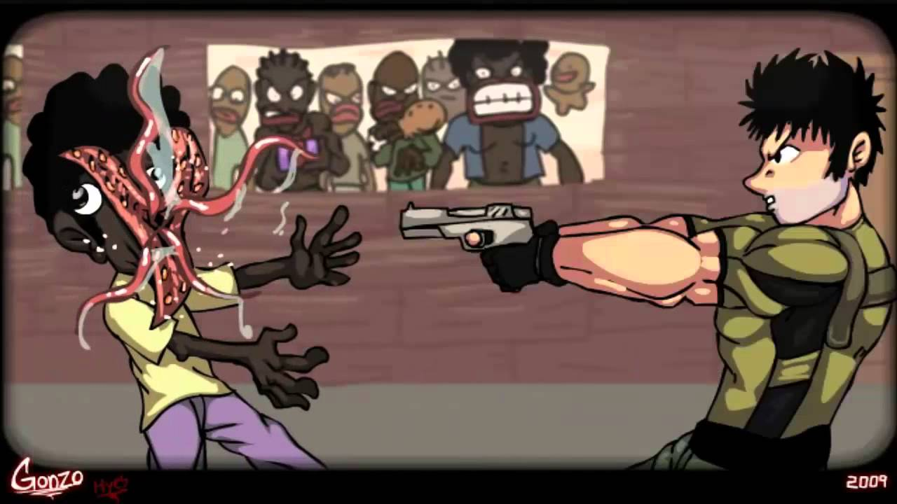 Resident Evil 5 Public Assembly Cartoon Parody Made By Gonzo
