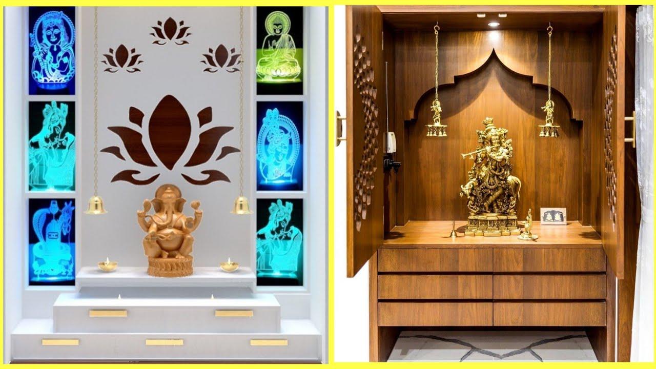 Latest Pooja Room Mandir Design 2020 Mandir Wall Design For Home Temple Design Youtube