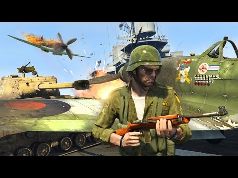 GTA 5 Real Life Military Mod - NEW World War 2 Tanks, Planes & Weapons Mod!! (GTA 5 Mods Gameplay)