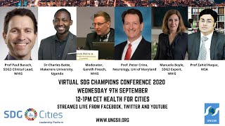 VIRTUAL SDG Champions Conference Health for Cities