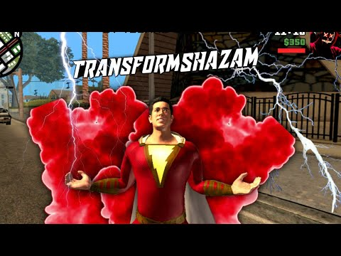 Gta San Andreas Superhero Mod - Shazam Transformation Mod - 동영상