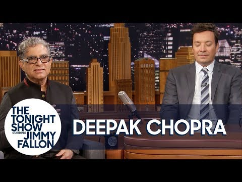 Deepak Chopra guides Jimmy Fallon through two-minute meditation (and you can do it too)