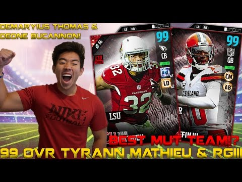 99 OVR TYRANN MATHIEU & ROBERT GRIFFIN III! MADDEN 17 ULTIMATE TEAM