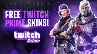 How to get FREE TWITCH PRIME Skins! Fortnite Battle Royale Skins!