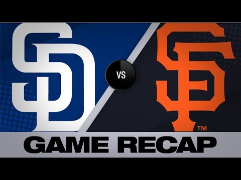 Lucchesi, Myers Lift Padres Past Giants, 4-1   Padres-Giants Game Highlights 8/31/19