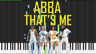 ABBA - That's Me Piano Tutorial - Chords - How To Play - Cover.
