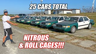 How We're Equipping 25 Crown Vics With NITROUS and ROLL CAGES For Our Freedom 500 Race!