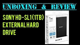 Sony HD SL1 1TB External Hard Drive Unboxing amp Review OutOfTheBoxInd a