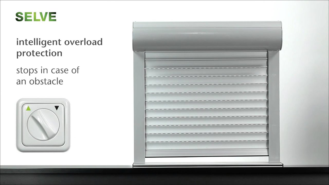 selve sel plus roller shutter motor automatic setting of end limits obstacle detection youtube