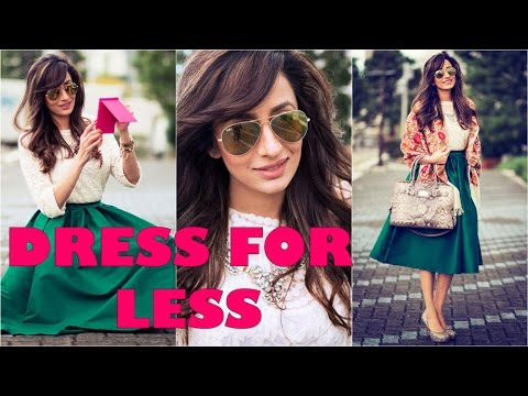 Dress for less : Online shopping on a budget