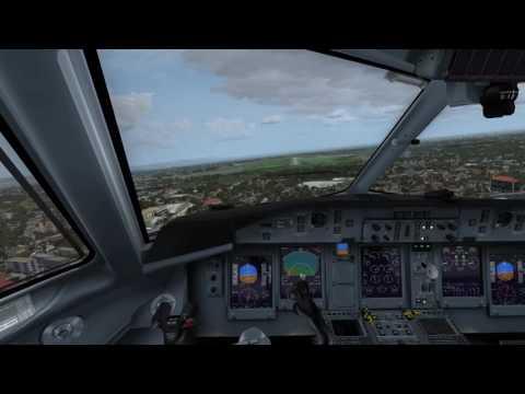 q400 landing in guantanamo, Cuba, P3D