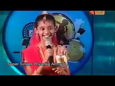 Priyanka Super Singer First Performance || Kangal Enge Nenjamum Ange