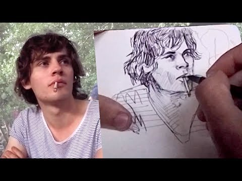 DRAWING LIVE PORTRAITS IN BERLIN!
