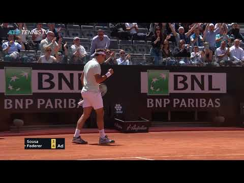 Roger Federer Epic Defence & Winners vs Sousa | Rome 2019