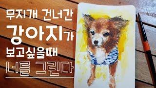 보고싶은 나의 강아지 그리기 / Watercolor p…