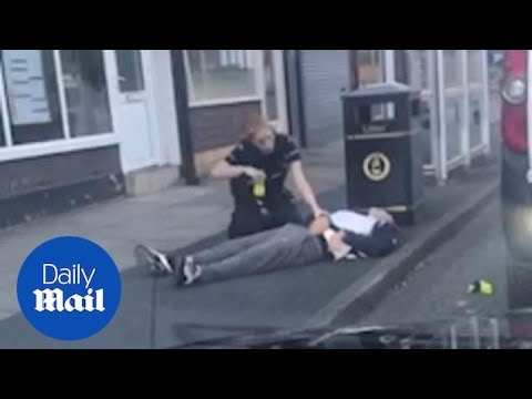 Police Officers Being Assaulted Forced To Use Taser To Control Man