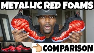 METALLIC RED FOAMPOSITE ONE REVIEW & COMPARISON WITH UNIVERISTY RED FOAMS