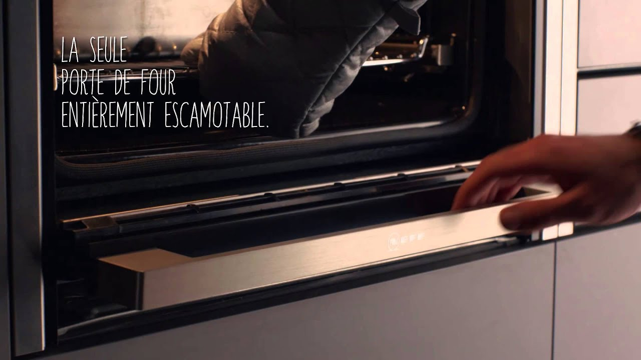 Four Encastrable Micro Onde Porte Escamotable Slide & Hide® - Youtube