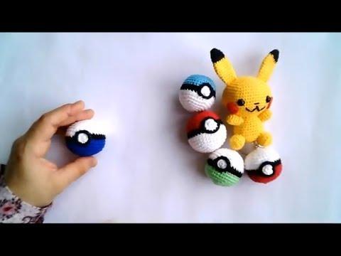 CROCHET POKEBALL PATTERN - Detective pikachu stuff toy - Amigurumi ...   360x480