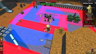 Roblox Tower Battles Solo survival by Golden Commando and Golden Scout full gameplay