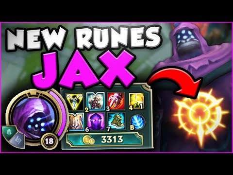 ONE TWO THREE DEAD! NEW RUNES ON JAX ARE NUTS! NEW JAX TOP GAMEPLAY SEASON 8! - League of Legends