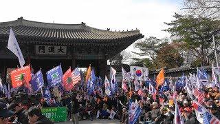 대한민국은 죽어가고 있어요-대한문 태극기집회