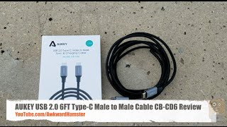 AUKEY USB 2.0 Type-C Male to Male Cable CB-CD5 Review