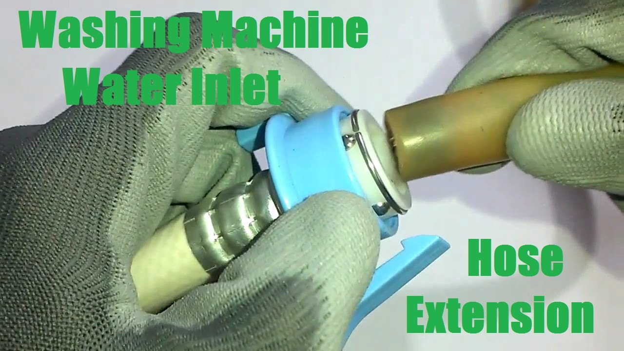 Washing Machine Water Inlet Hose/Pipe Extension (without cutting ...