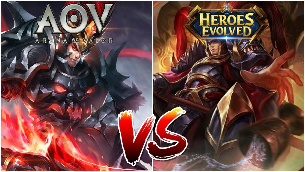 Lubu V S Lubu These Heroes Are So Similar Arena Of Valor Aov V S Heroes Evolved He