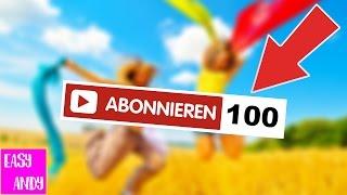 Easy 100 ABONNENTEN Bekommen! (Animiertes Tutorial)
