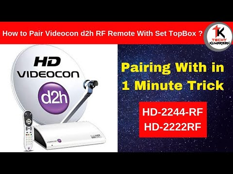 How to pair Videocon d2h rf remote with set top box|Kums Tech|Kums|Tamil