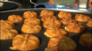 10개 2천원 국화빵, 추억의 국화빵 델리만쥬, 땅콩빵…